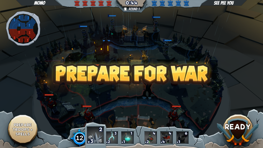PREPARE FOR WAR TABLETOP GODS PRACTICE GAME