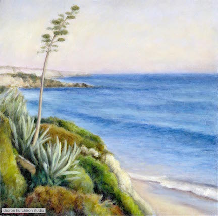 """Laguna Agave - 24"""" x 24""""oil on canvasAvailable at Elizabeth Benefield"""