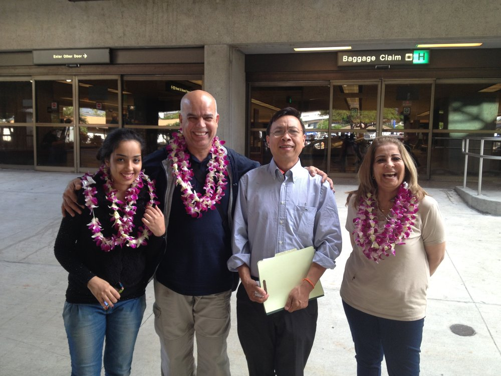 Refugee family welcome to Hawaii!