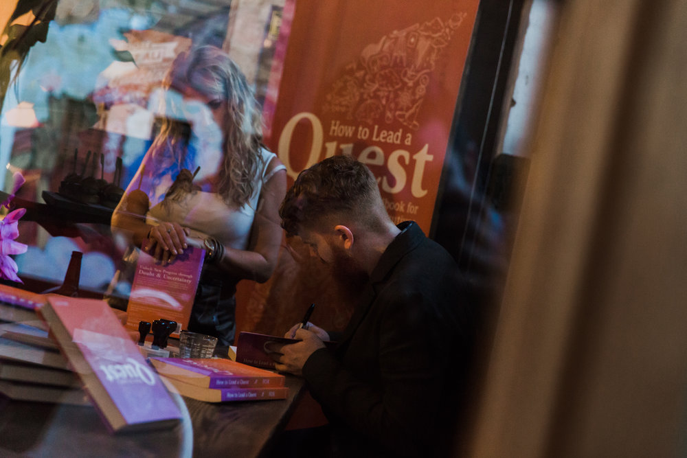 Dr Jason Fox How to Lead a Quest Book Signing
