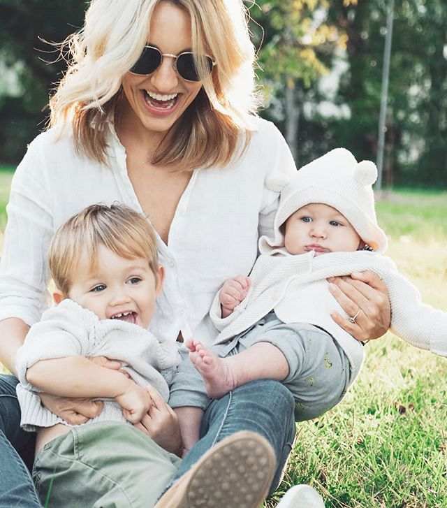 """All the hugs and giggles and meltdowns and brunching and cold brews and tantrums and presents.... A perfect day in the life 🤗 I love these little guys who call me """"mama"""" with all of my soul.  #mothersday"""