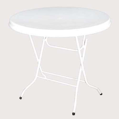 White folding Table - Round