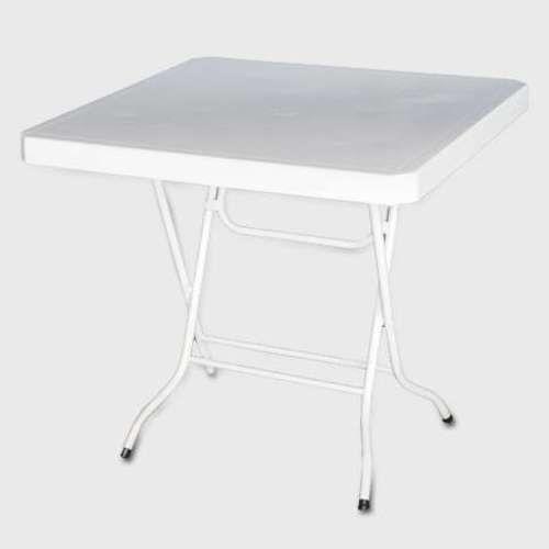 White Folding Table - Square