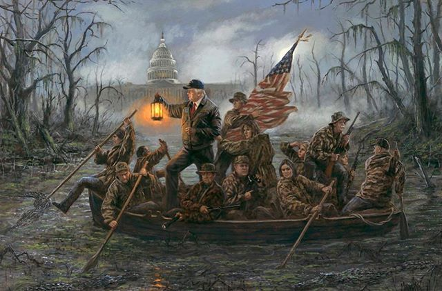 "Love this!!!! #Repost @donaldjtrumpjr ・・・ ""Crossing the Swamp"" ""Never give up. Never lower your light. Never stop till the swamp is dry."" – Jon McNaughton #draintheswamp #bepatriotic #godblessdonaldtrump"