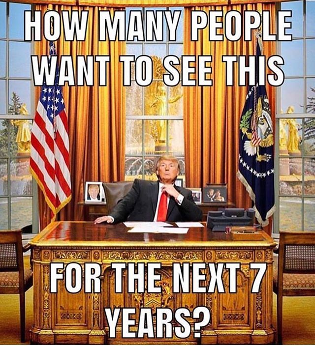 I'm so very proud of President Trump!! I say YES to 7 more years!!!!! #Repost @military.humor ・・・ 🔥THOUGHTS?? 🤔🤔🤔 #maga . . . . @supportmilitarymuscle . 🇺🇸BUY ONE GIVE ONE: For every tee bought, we will donate tees to deployed troops and homeless veterans. For more info visit www.militarymuscleinc.com . 🎗Want to get involved in our non-profit? Check out @militarymusclefoundation . 🎥Also visit: YouTube.com/militarymuscleinc for MM motivational videos! 💥Click Link in BIO💥 . ❎ TAG YOUR FRIENDS SO THEY CAN LAUGH TOO! . ❎ DM ME YOUR FUNNY POST FOR A FEATURE!!. . ❎ @bigpanda_official KEEPING SMILES ON FACES SINCE 2015 . #military #militarymuscle #supportmilitary #supportmilitarymuscle #iammilitarymuscle #usn #navy #usmc #marines #usarmy #army #usaf #airforce #uscg #coastguard #veteran #guns #humor #militaryhumor #funny #laugh