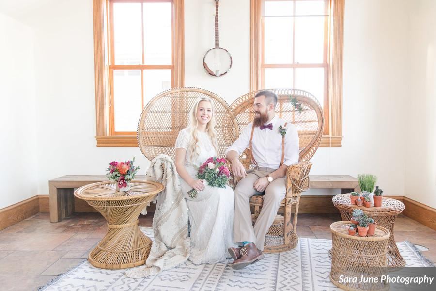 Colorful Boho Indoor Style Wedding