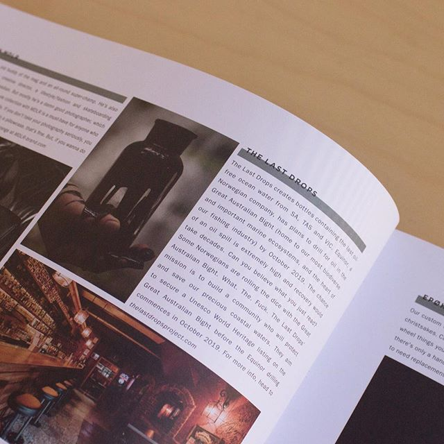 We're super excited to announce that @thelastdropsproject have been featured in the new @monsterchildren  They're claiming that the issue is the best magazine they did in ages and we couldn't agree more (not because we're on it, its actually pretty good).