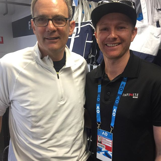 Great meeting tennis legend and ex coach to Roger Federer, Paul Annacone at the AO this year!