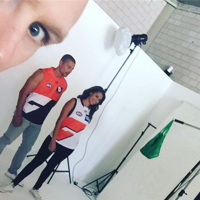A peek behind the scenes! Shooting the new 2018 range for #AFL. Great work @studiotwoone