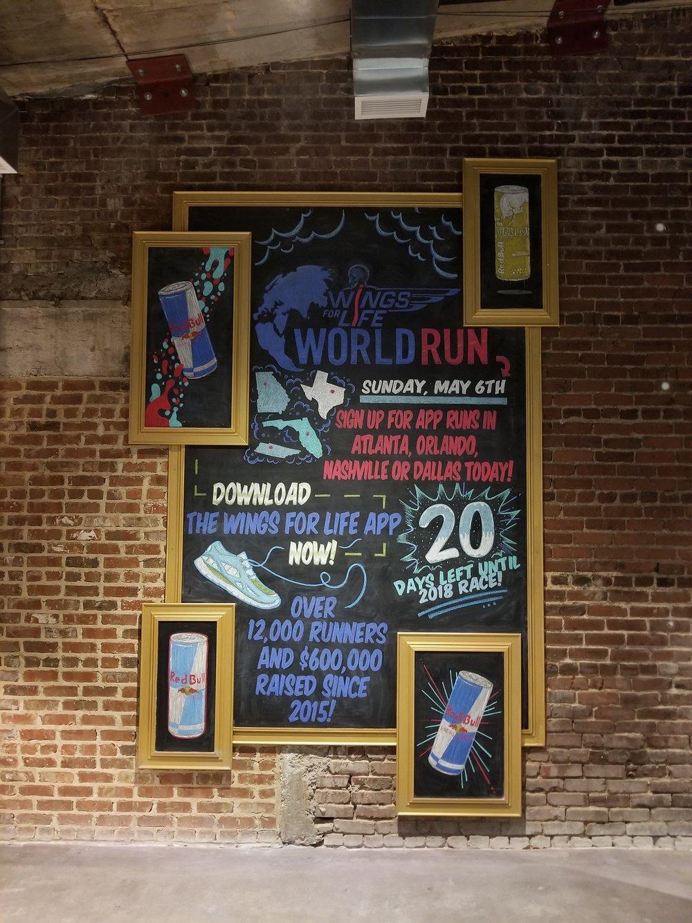 World Run Chalkboard
