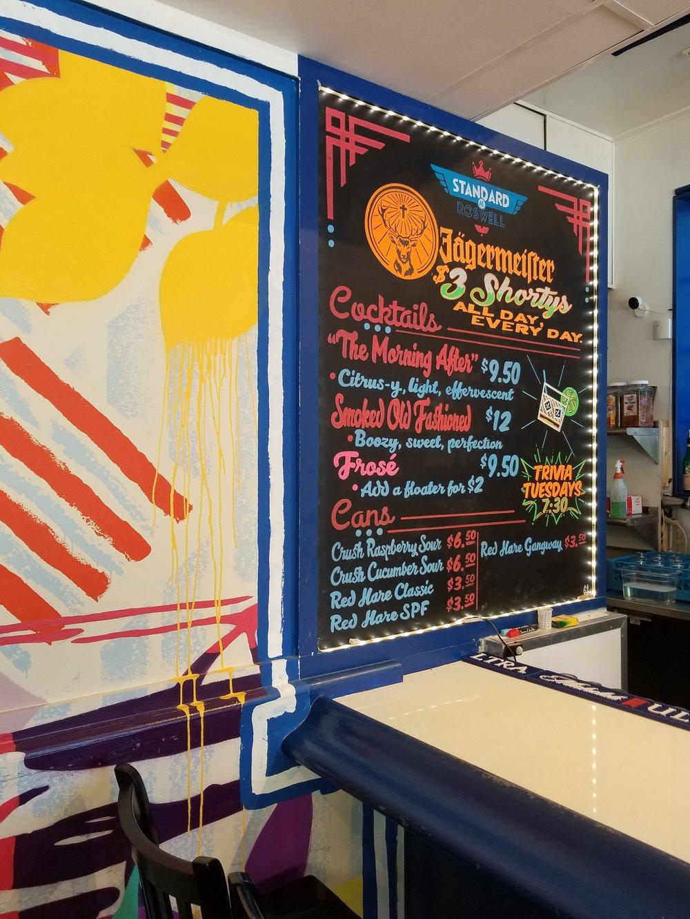 The Standard Roswell Chalkboard