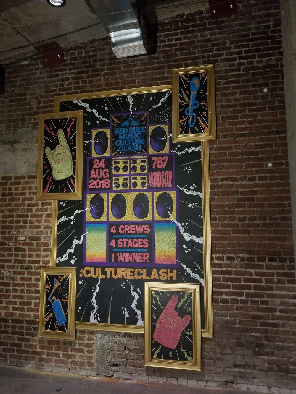 Culture Clash Chalkboard