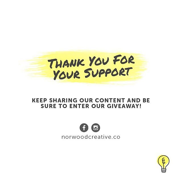 We appreciate you! Find us on Facebook and enter our giveaway (ending 3.1.18) // Visit our website: norwoodcreative.co to see what we offer! #thankyou