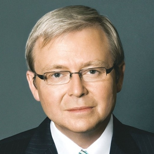 "The Honorable Kevin Rudd served as Australia's 26th Prime Minister (2007-2010, 2013) and as Foreign Minister (2010- 2012).   Mr. Rudd is inaugural President of the Asia Society Policy Institute in New York. ASPI is a ""think do tank"" dedicated to second track diplomacy to help governments and businesses on policy challenges within Asia, and between Asia, the US and the West. Mr. Rudd is a Senior Fellow at the Harvard Kennedy School where in 2014-15 he completed a major policy report on the Future of U.S.-China Relations Under Xi Jinping. He served also as Chair of the Independent Commission on Multilateralism where in 2015-6 he led a review of the UN system.    He is a Distinguished Fellow at Chatham House in London, a Distinguished Statesman with the Center for Strategic and International Studies in Washington, and a Distinguished Fellow at the Paulson Institute in Chicago. Mr. Rudd is a member of the Comprehensive Test Ban Organization's Group of Eminent Persons. He studies China for over 30 years, is proficient in Mandarin Chinese, serves at the international advisory board of the Schwarzman Scholars program at Tsinghua University, and honorary professor of Peking University. He currently undertakes a major research project at Oxford on Xi Jinping's Worldview."