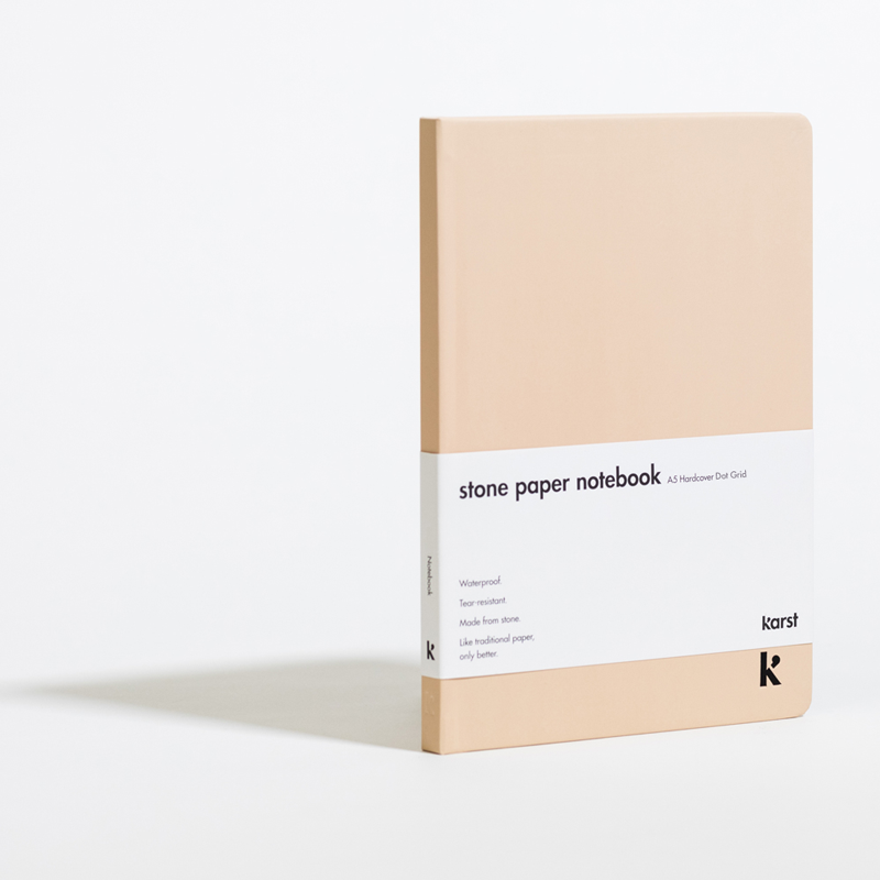 "Karst Notebook - $30 - KarstHi, this notebook has paper made out of stone. Yeah, I don't know how either, but it is a pretty cool thing to give just about anyone. One could even say ""this notebook rocks"" (I'm so sorry)."