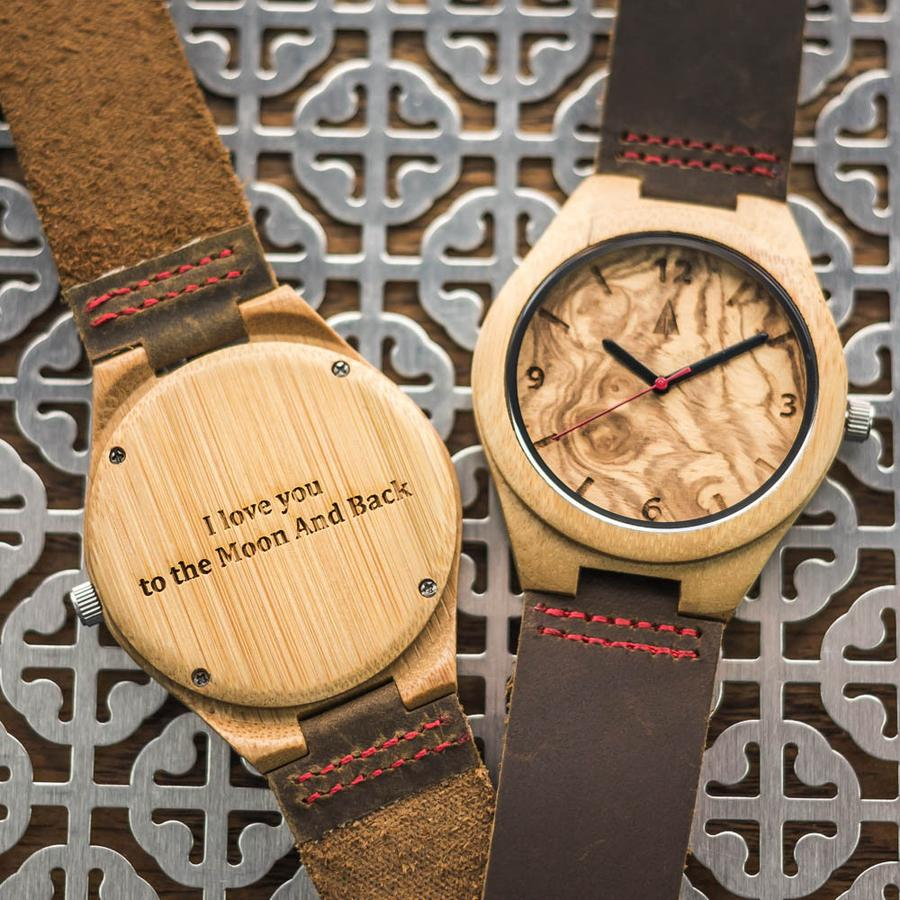 Wooden Watch - $85 - TreehutWe've recommended Treehut watches before because we love them! It's a nice update to the traditional Dad-style watches with natural materials and a sleek, organic look.