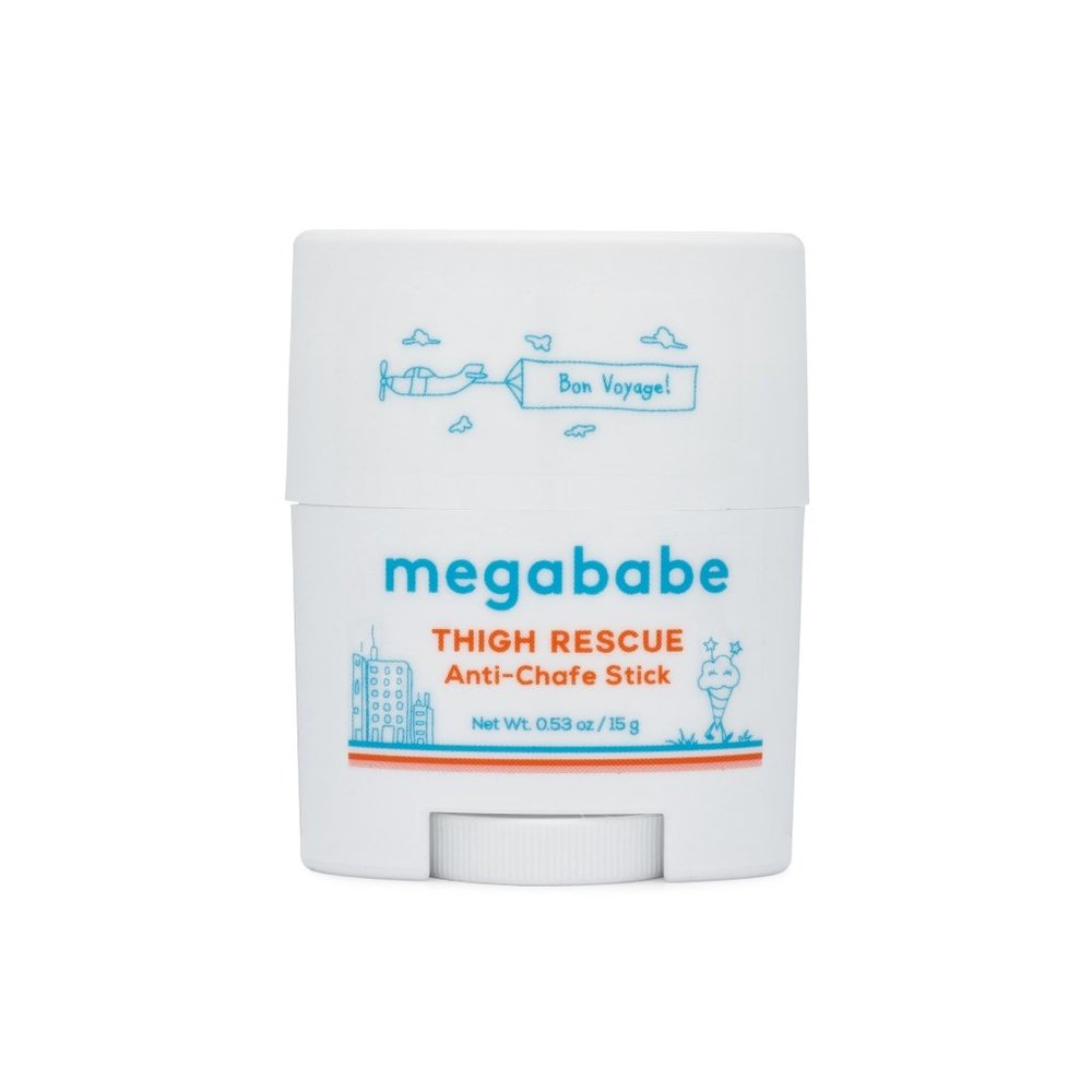 Anti-chafe stick - $8 - MegababeTruly Megababe is life. Founded by one of our fave Instagram follows @the12ishstyle, this line of useful beauty products is a must-give to any woman on your list. They carry Thigh Rescue (pictured), Bust Dust (a cure for boob sweat) and Rosy Pits (a baking soda-free natural deodorant).