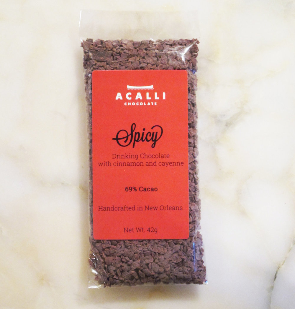 Spicy Drinking Chocolate - $4 - Acalli ChocolatesIt's a rule in our house that stockings are the perfect time for a sweet that takes you out of our comfort zone. We love this spicy drinking chocolate to bring a little new, & a lot of warmth during the cold winter days.