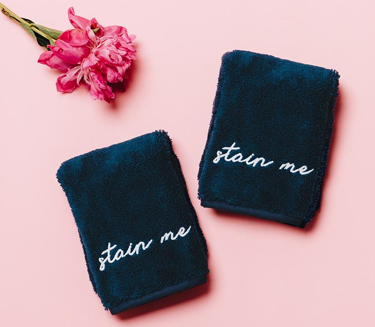 Makeup Towels - $40 - Weezie TowelsNever underestimate the power of a 'basic' done right. Weezie towels are basic-ally the best; the founders did years of research to produce ultra-fluffy, absorbent and really posh towels! We love the black makeup towels or the Bath Sheet.
