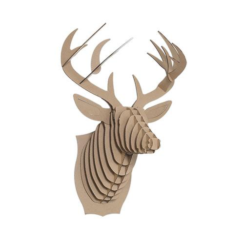 Cardboard Deer Head - $15 - Cardboard SafariMountain cabin aesthetic with animal-friendly charm. I've loved these Cardboard Safari heads for years, & with so many animal choices (like a unicorn or a T-Rex!) it would be hard to make a misstep with one of these.