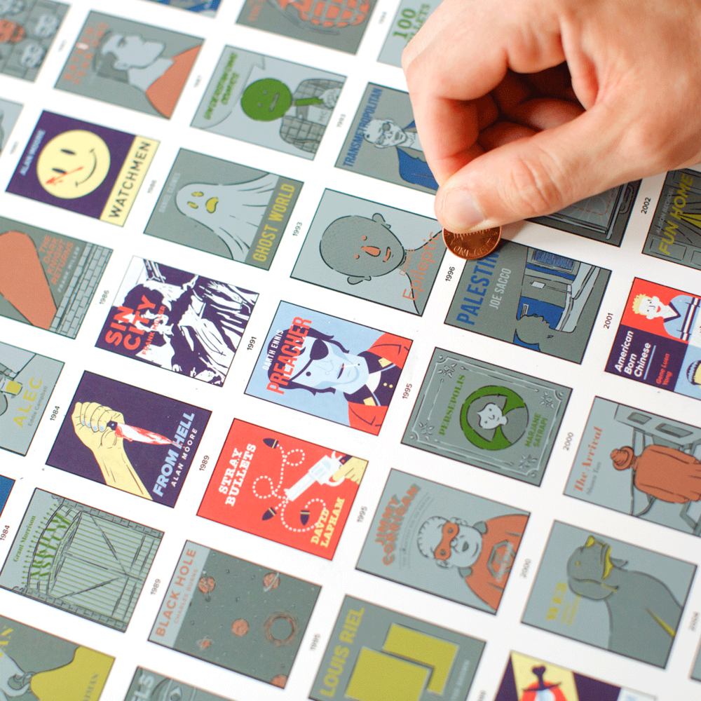 Popchart - Graphic Novel Scratch Off