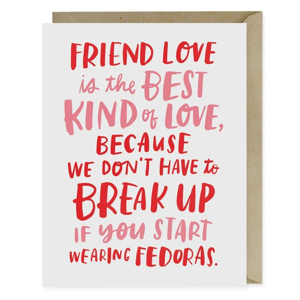 Fedoras Card - $5