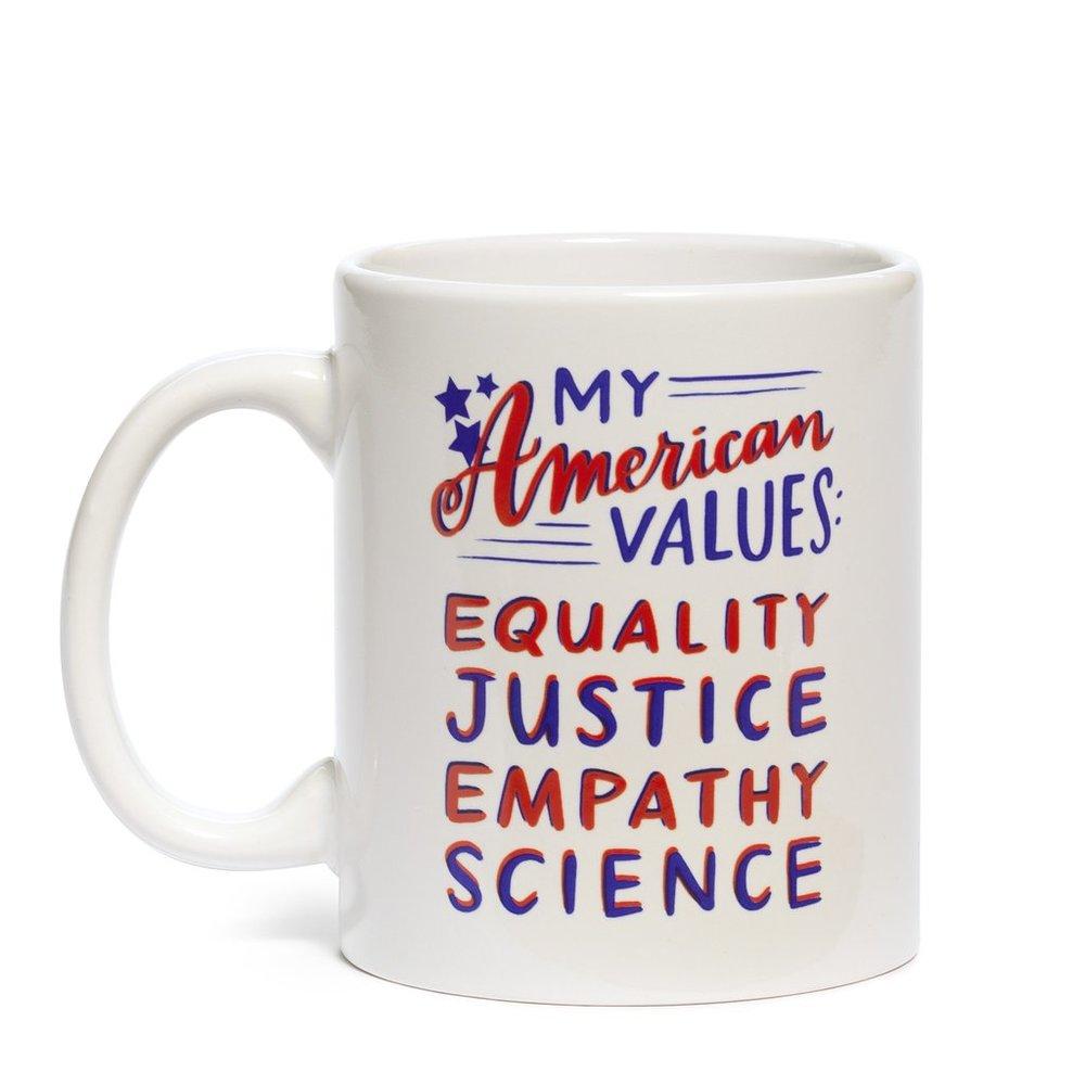 American Values Mug - $15