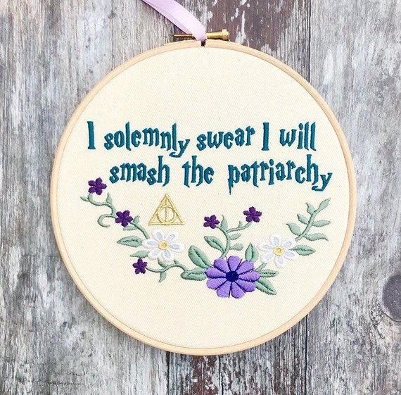 I solemnly swear… - I mean, this is just so Nicole, it would look GREAT in her office right next to the Cher garland. Nicole is the perfect balance of pop-culture and pure FIRE. So Harry Potter meets Feminist agenda is right up her alley.