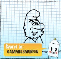 Nicke Värd skizzar gammelsmurfen.