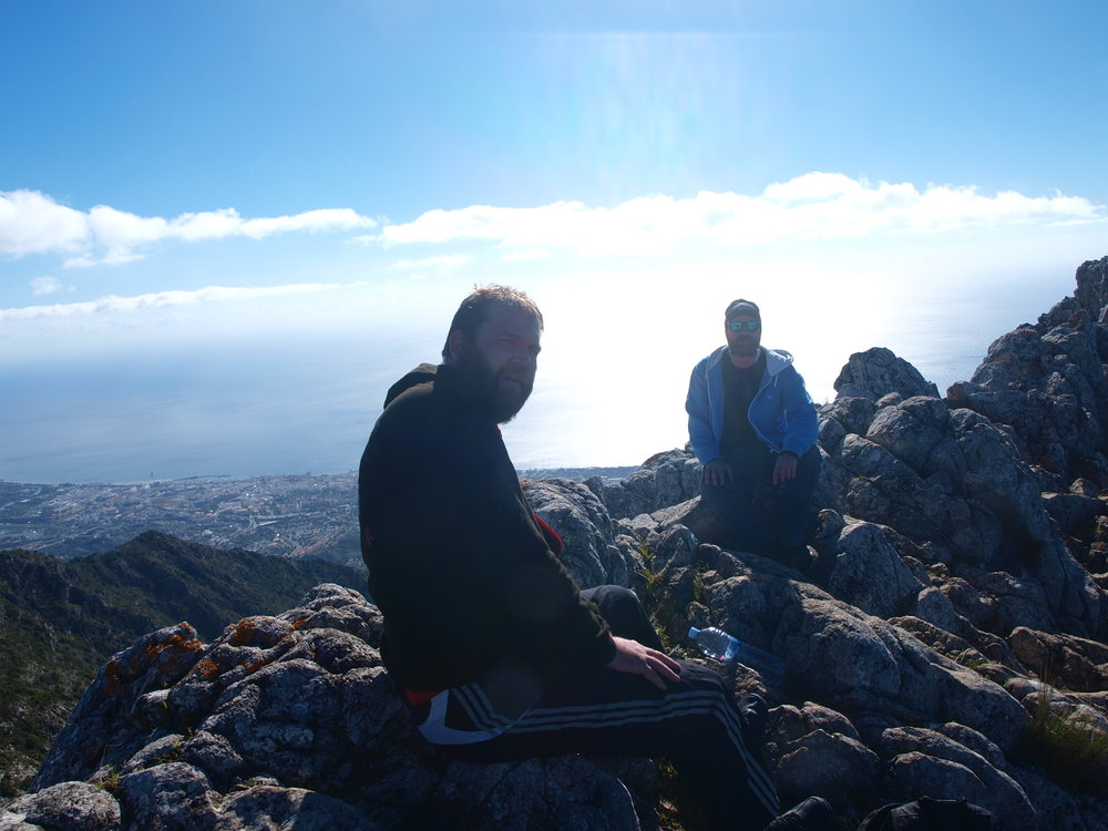 Fd värden Andreas och jag på toppen av Pico de la Concha.