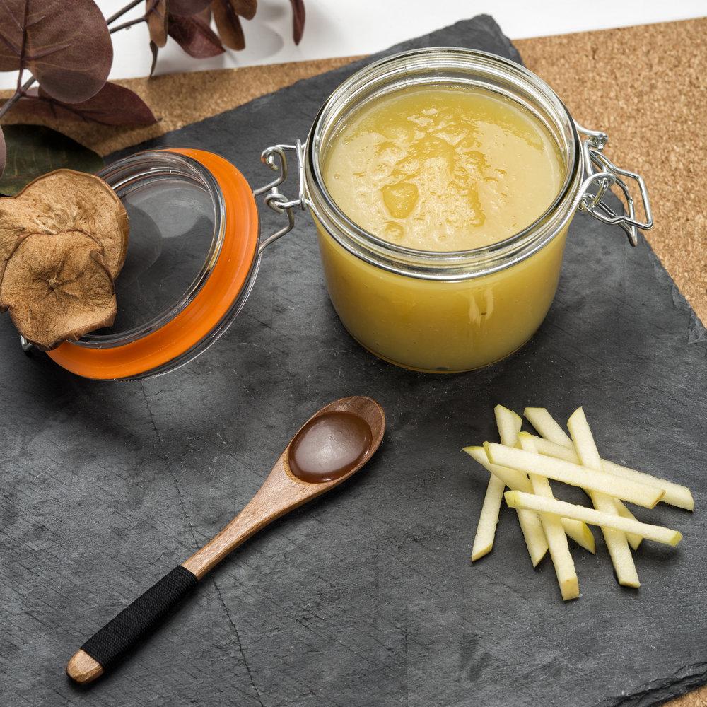 Compote de pommes au caramel beurre salé -Photo recette du Chef Laurent Coutantic pour QVC © K. Mezroua