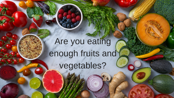 If you are like most Americans, you are   not   eating enough fruits and vegetables!