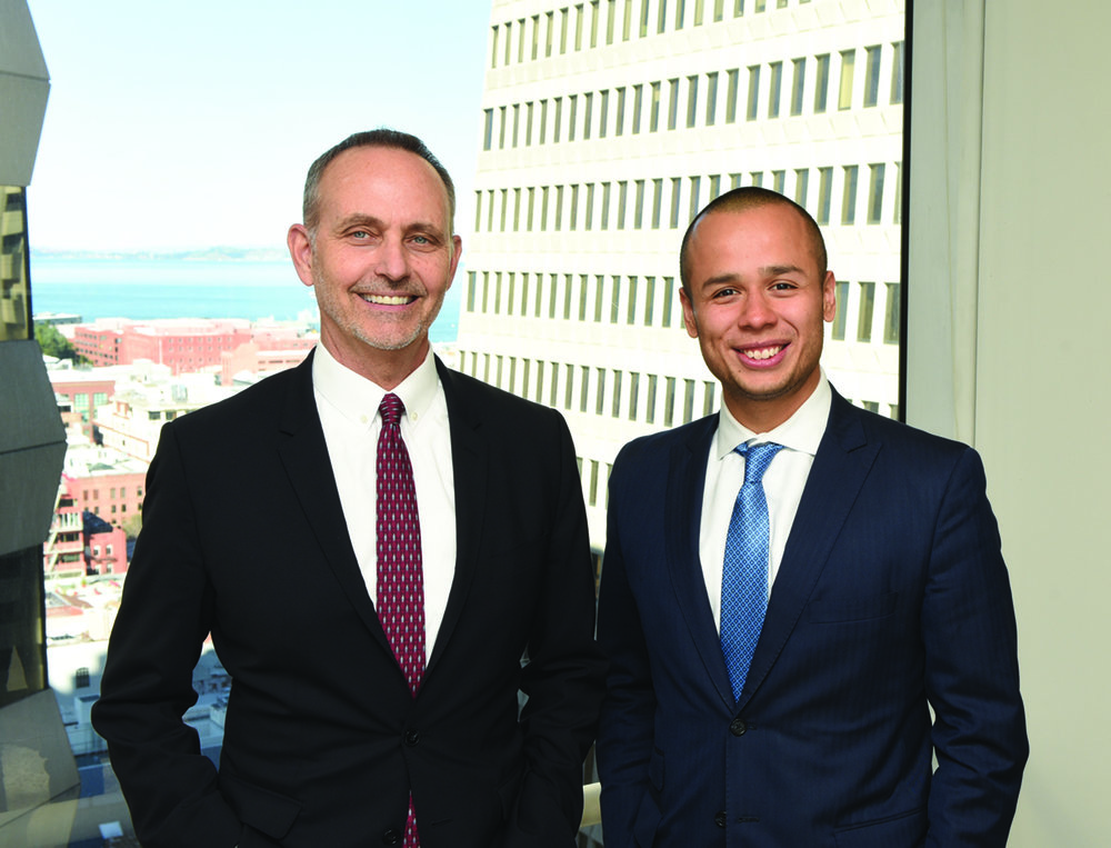 Charles Towle (right) with Jeffrey Sweeney, Chairman and CEO at US Capital Global
