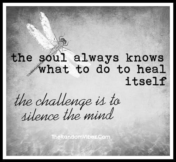 The soul knows! The challenge is the mind.... ** #soulsearching #healingenergy #healingtrauma #resourceforpeace #refusetobeavictim #itsanewdawn #courage #healingquotes #awareness