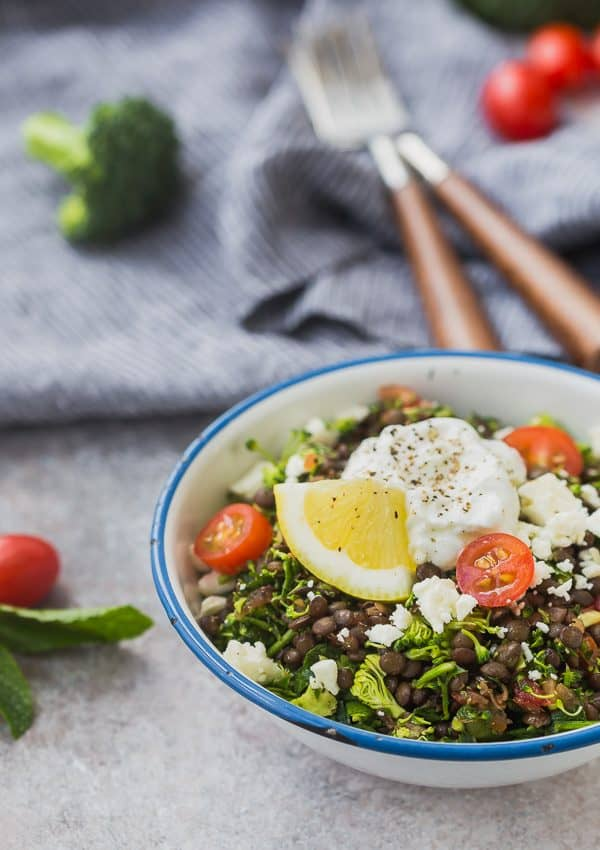 10. Broccoli Tabbouleh Bowl with Lentils -