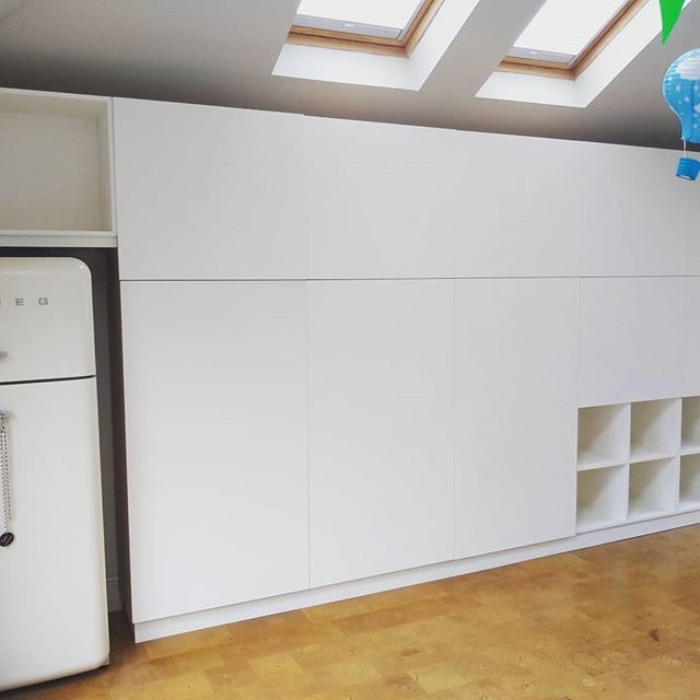 Bespoke MDF cupboards designed and fitted for some lovely clients in Jesmond. #joinery #cupboards #design #homeimprovement #storagesolutions #storage #bespokejoinery