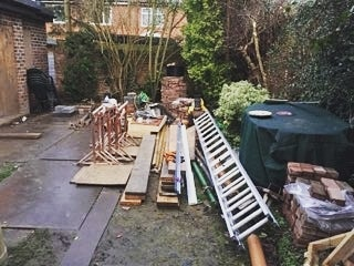 Landscaping job with granite paving, fencing, decking and a new lawn. Teamed up with Jonny Miller's Gardening for this one. Happy with the results and tea intake.  #landscaping #fencing #joinery #decking #paving #garden #gardening #gardendesign #outdoorliving #patio