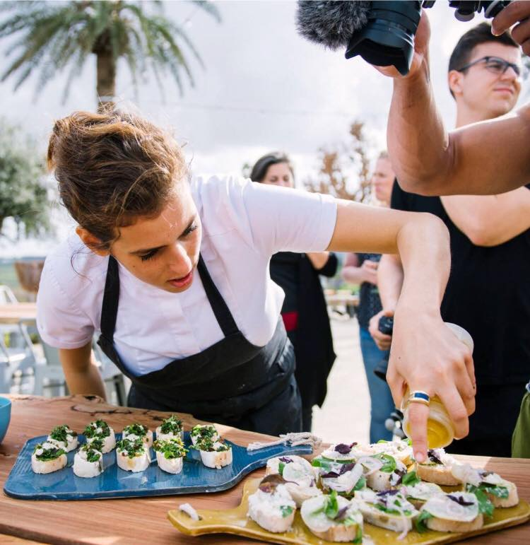 Chef Shirel Berger at LeMishmeret Farm to Table Dinners