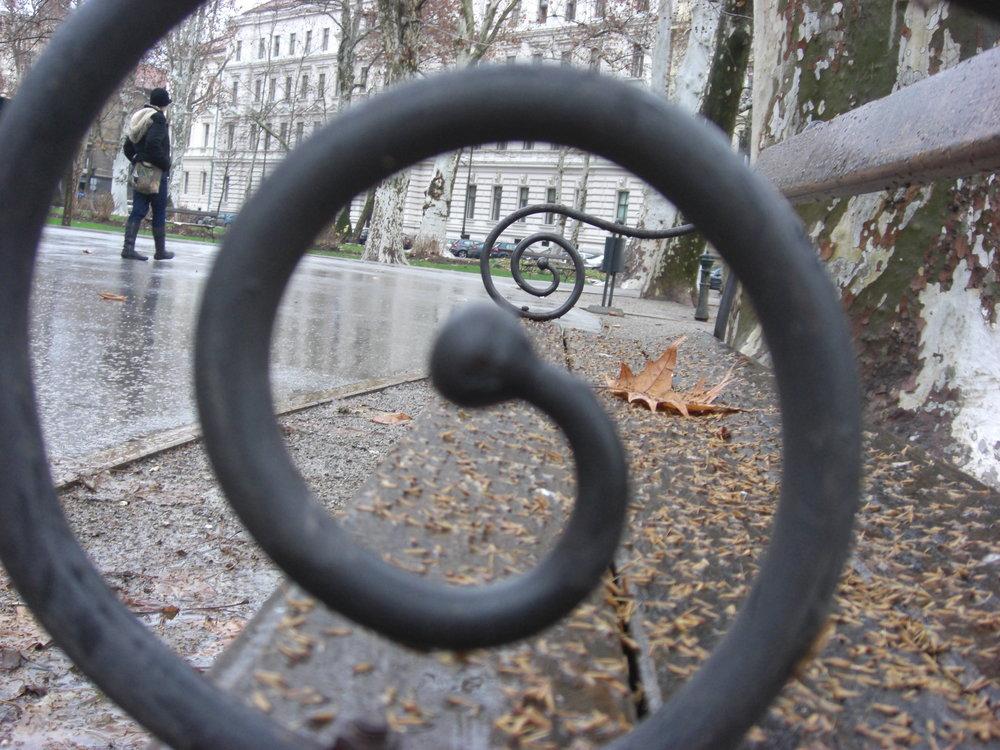 Bench in Zagreb, Croatia.JPG