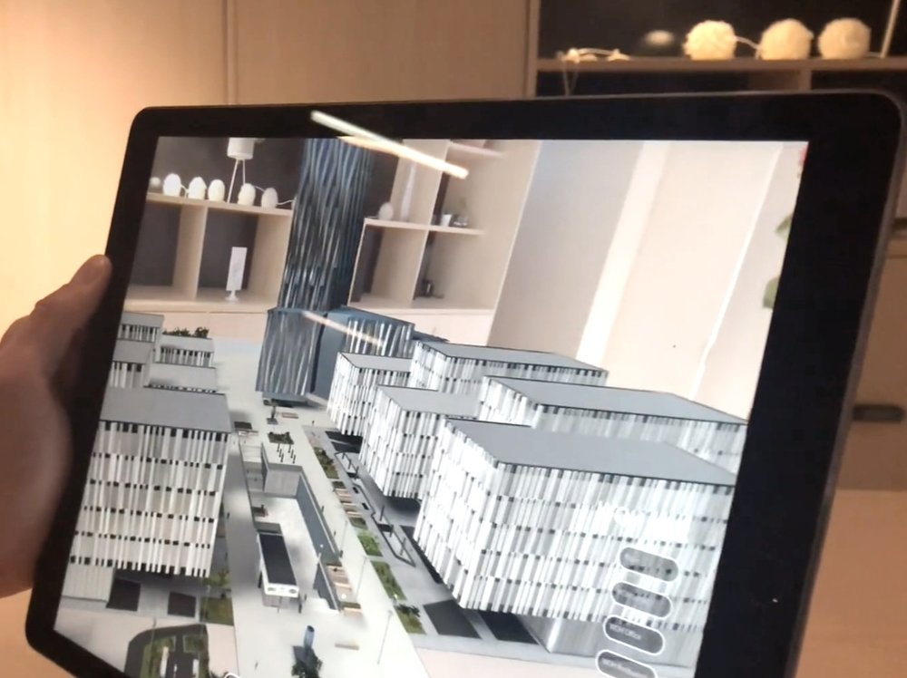 Screenshot from the AR view