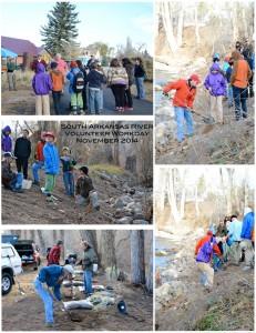 Figure 3:  South Arkansas River Restoration Project volunteer workday