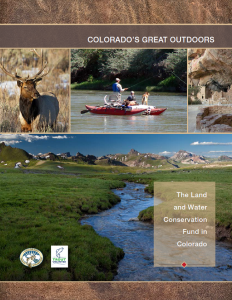 A Colorado TU report highlights LWCF success stories.