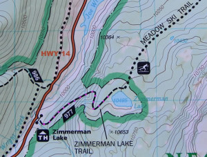 map zimmerman lake