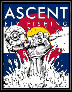 Tight Line colorado flag fly fishing decal. Coolest fly fishing sticker out there. Ascent Fly Fishing.