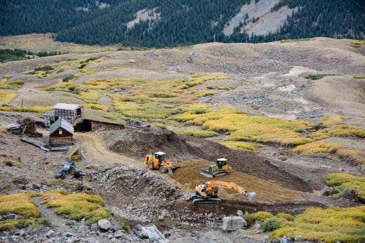 Project site during construction from upper adit levels on McClellan Mountain. (Photos: Jason Willis)