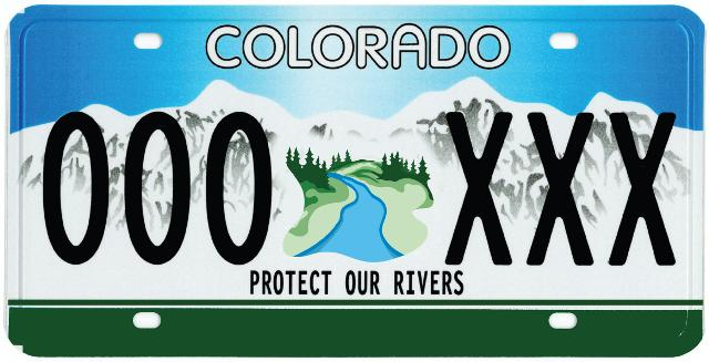 Represent river conservation on the road with this sweet license plate!