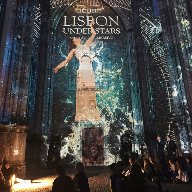 Fantastic sound & lights at the Carmo Archeological Museum in Lisbon, brilliant night! #lisbon #lisboa #museudocarmo #technology #history #portuguesehistory #fotografabrasileiraemlisboa