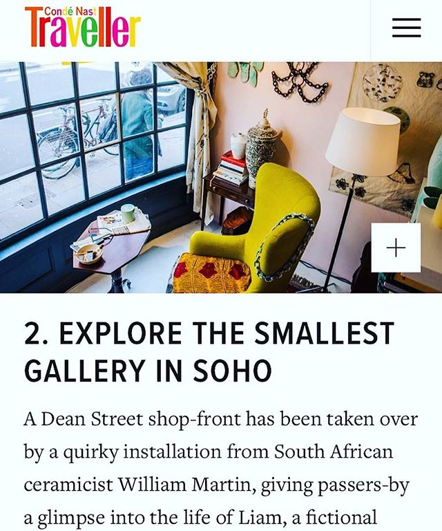 Thank you @condenasttraveller for featuring us as no.2 on the top 10 cool things to do in London this week! 'Liam' is up until the end of the month.  Venue @thegaragesoho Artist @williamandco_uk  Curators @philiplevine & @a_m_da_costa  Gallery Manager @moirarizo Lighting Design @Syntaxlighting  Photo @opalphotographic