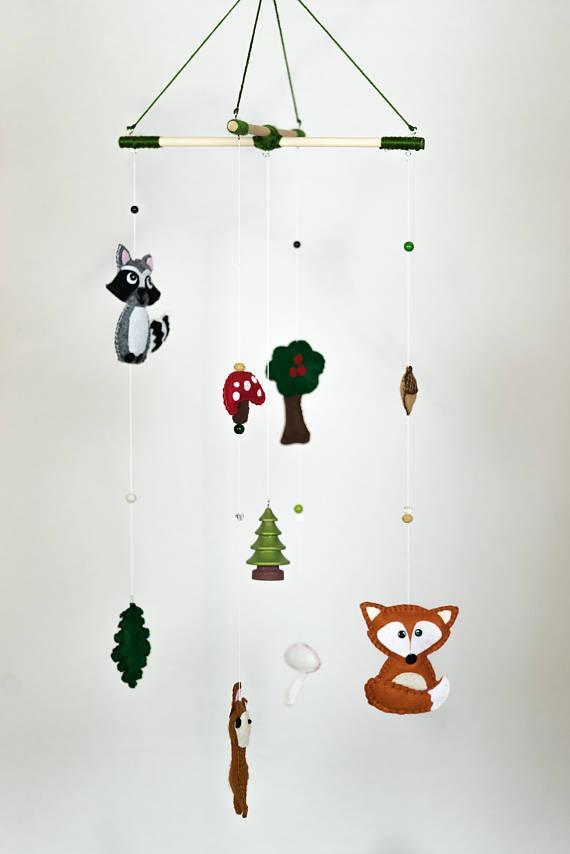 Woodland Animals / Woodland Creatures / Baby Nursery Mobile / Made to OrderHelloxSugar