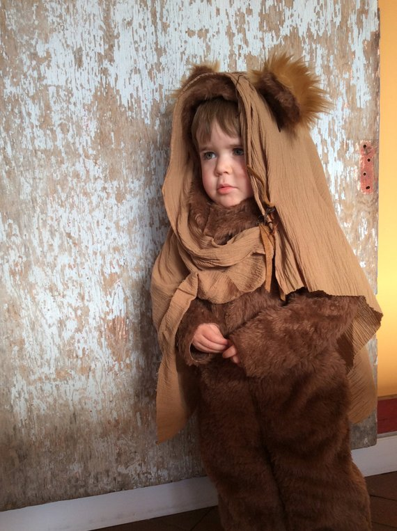 EWOK Halloween Kids Costume for Boys or Girls, Toddler Costume, Childrens Costume, hood, suit headscarf Star Wars forest eewokBoo Bah Blue